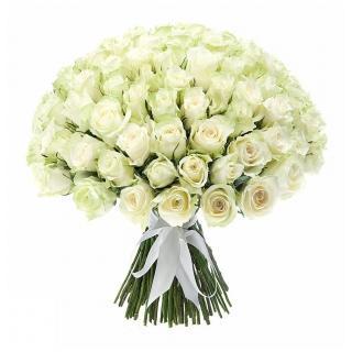 Охапка Белых Роз 40см