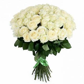 Букеты из Белых Роз «Аваланж»