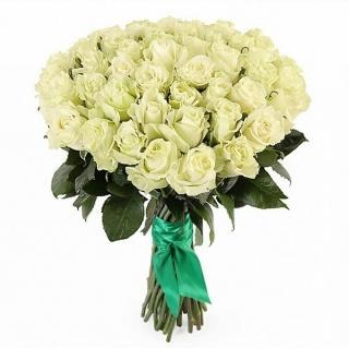 Букеты из Элитных Белых Роз «Мондиаль»