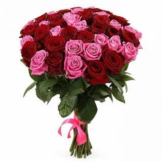 Букеты из Красно-Розовых Роз