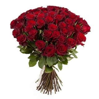 Охапка Элитных Красных Роз 70см