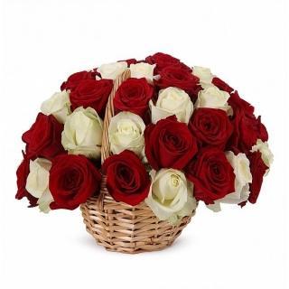 43 Элитные Розы Микс в Корзине