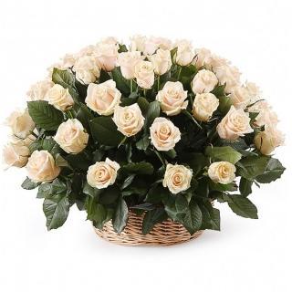 51 Роза «Талея» в Корзине