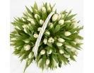 101 Белый Тюльпан в Корзине