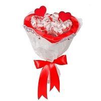 Букет из конфет «Сердце Рафаэлло»