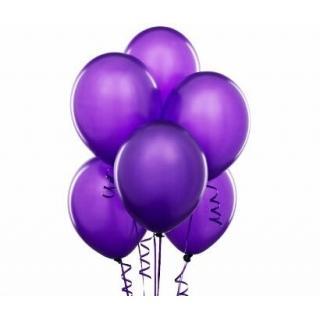 6 Гелиевых Шариков Фиолетового Цвета