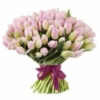 Букеты из Королевских Розовых Тюльпанов