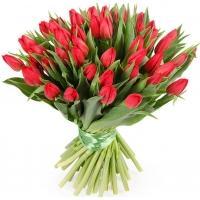 Букеты из Красных Тюльпанов