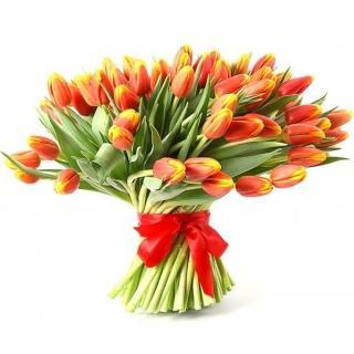 Букеты из Красно-Желтых Тюльпанов