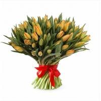 Букеты из Оранжевых Тюльпанов