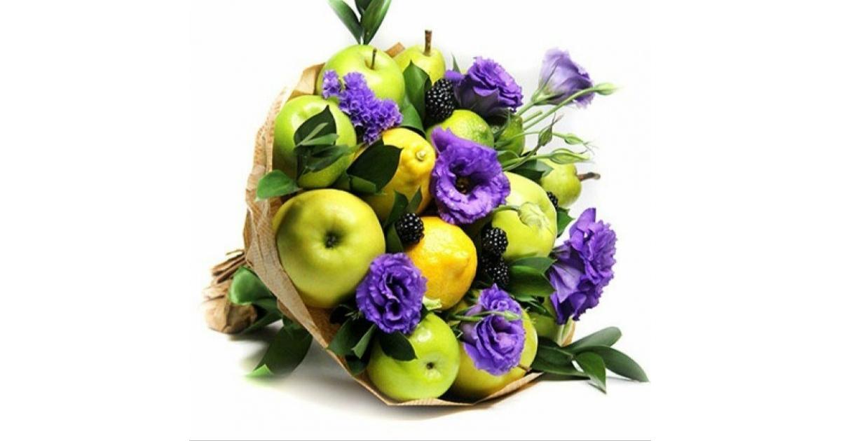 букеты из фруктов и цветов фото маленькие такая одежда