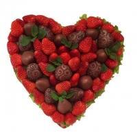 Сердце из Клубники в Шоколаде